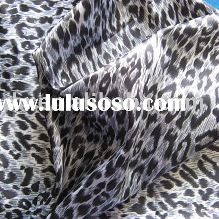 Printed satin fabric with fashion design
