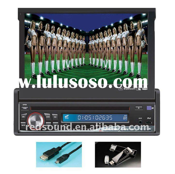 RD-7310 1 din car dvd player in dash with USB SD TV BLUETOOTH TOUCH SCREEN GPS