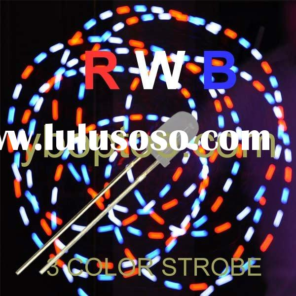 RWB-3CS-D3011,3 color Strobe (Red-White-Blue), Multicolor Blinking LED