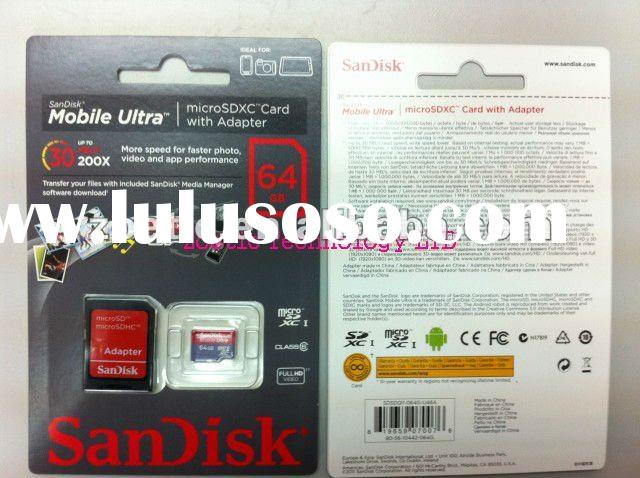 Sandisk 64GB Mobile Ultra Micro SDXC Card Class 6 UHS-1, micro sd card, micro sdhc card, micro sdxc,