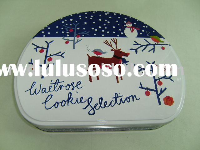Semi Round shaped tea/candy/chocolate/cookie/biscuit/storage/gift packaging tin box (#KK9122) size: