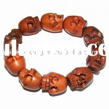 Skeleton Jewelry,Skeleton bracelet,Skull beads,Skull wood beads