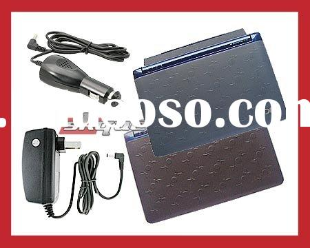 Skque for Acer Aspire One 8.9 Inch Black + Smoke Silicone Skin Case + Charger Bundle Kit Set