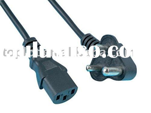 South Africa standard power supply plug cable