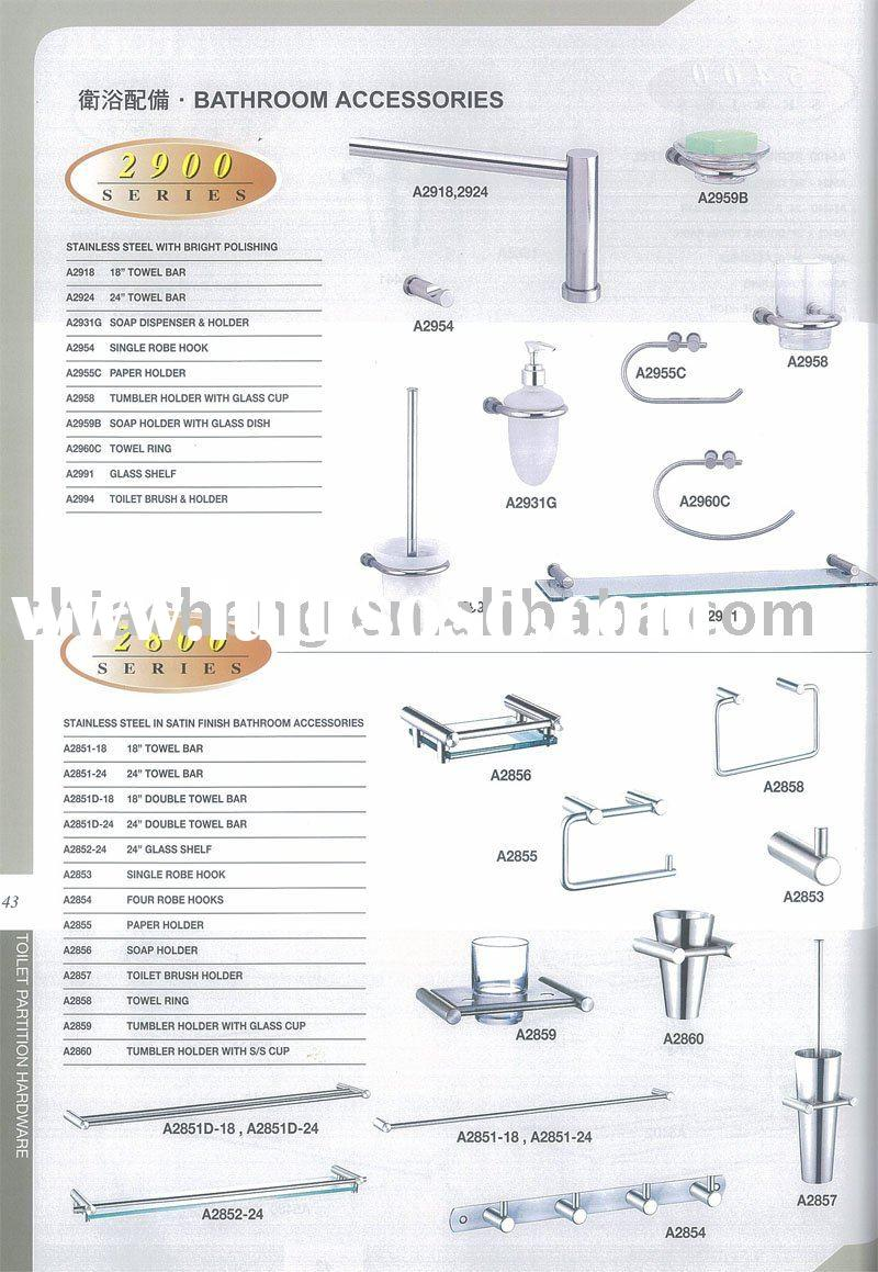 Stainless Steel In Satin Finish Bathroom Accessories