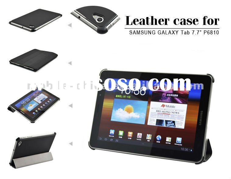 Super slim leather case for Samsung Galaxy P6800 & 7.7inch tablet pc leather case
