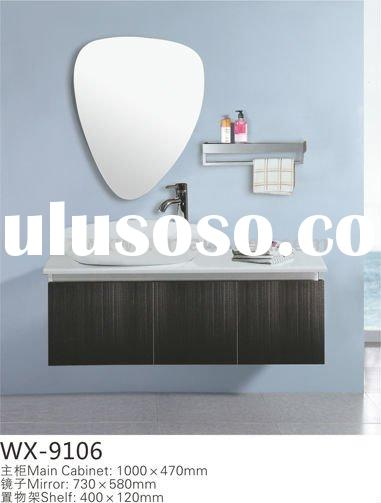 Superb pvc bathroom vanity,solid wood and stainless steel bathroom vanity