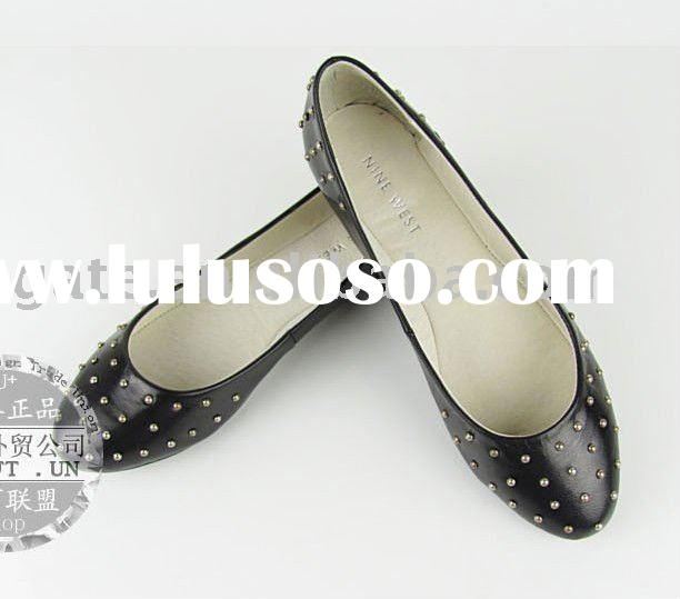 The foreign trade shoes sale! Europe and Xu rivet Nine west big spirit here