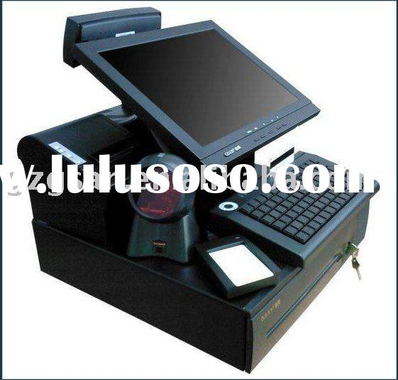 Touch pos system full set.( with printer, scanner ,cash drawer,keyboard together)