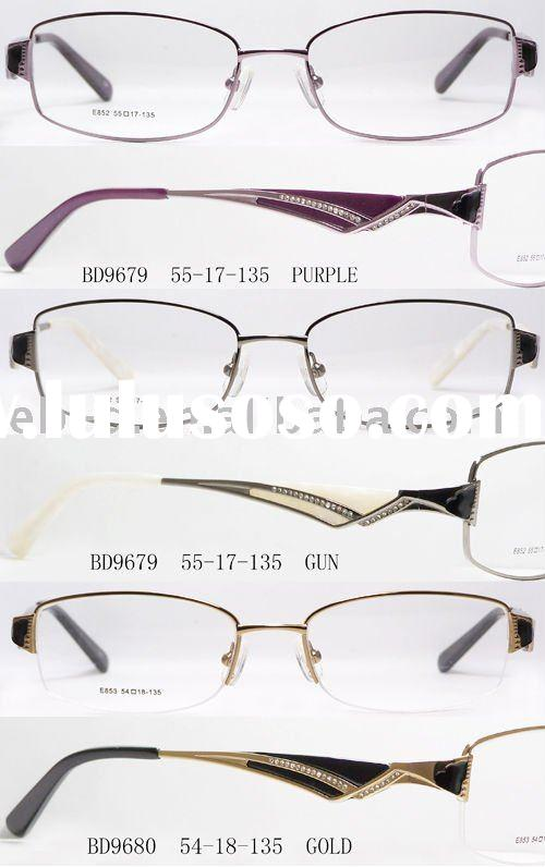 Trendy deign high quality Ladies metal optical frame