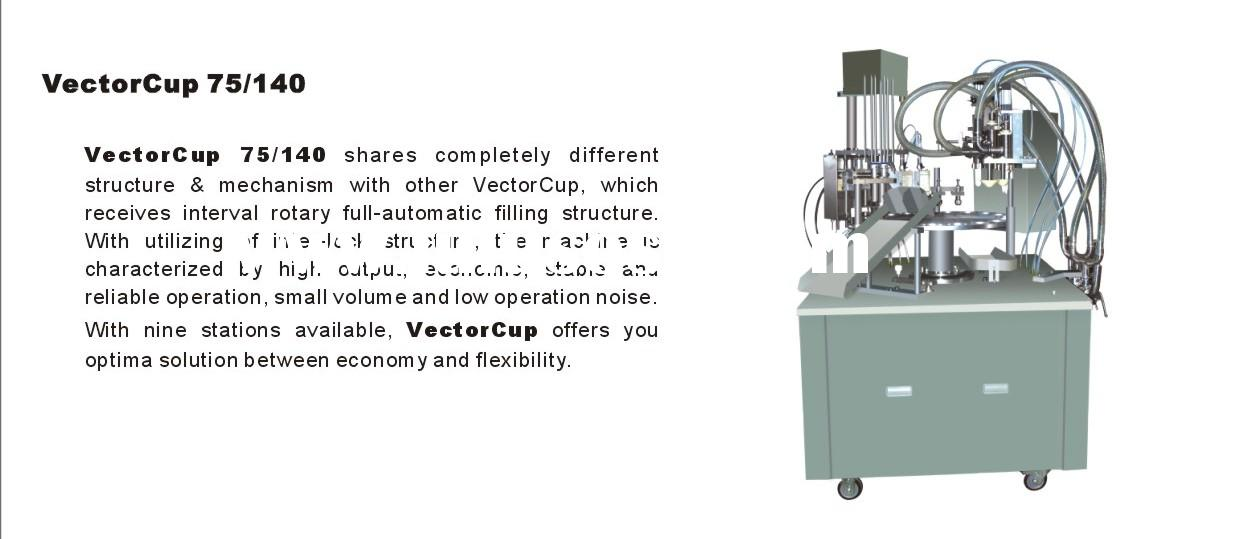 VectorCup 95 rotary series ice cream cup/cone filling machine