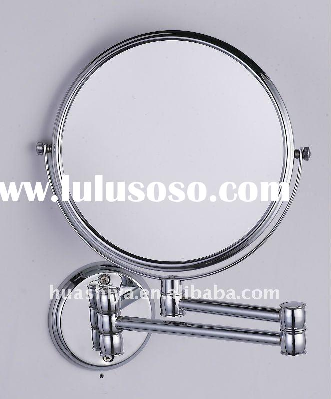 Wall mounted extendable double side makeup magnifying vanity mirror