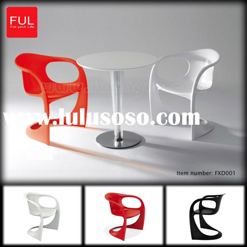 White Plastic Outdoor Table And Chair FXD001