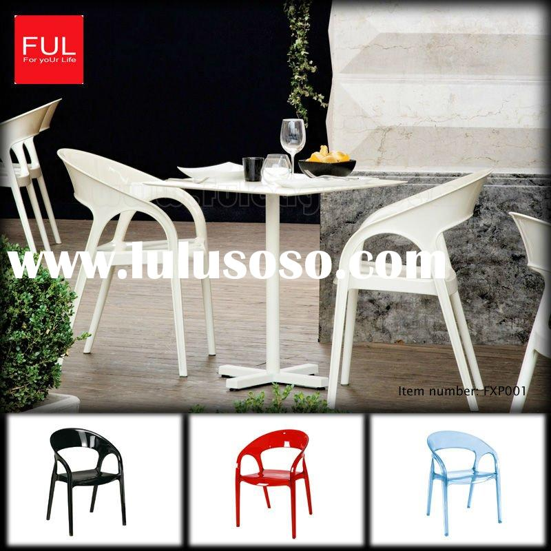 White Plastic Outdoor Table And Chair FXP001