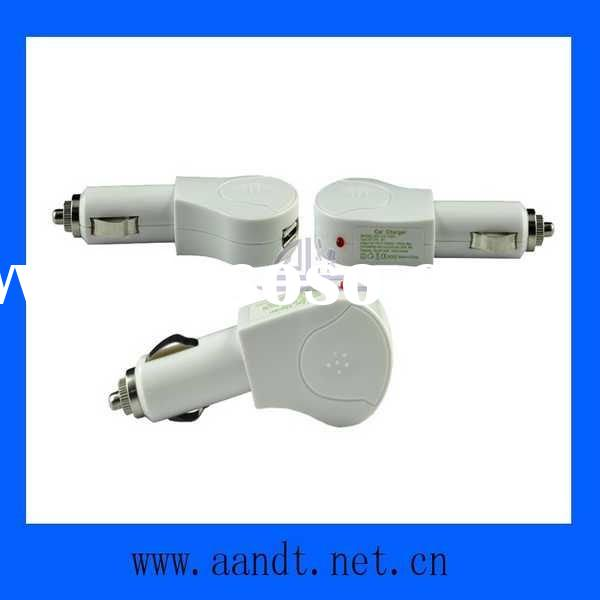 White USB Car Charger for iPod/iPhone 3GS/4G
