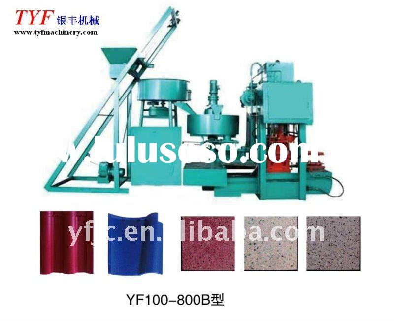 YF100-800 full automatic double-layer cement terrazzo tile machine