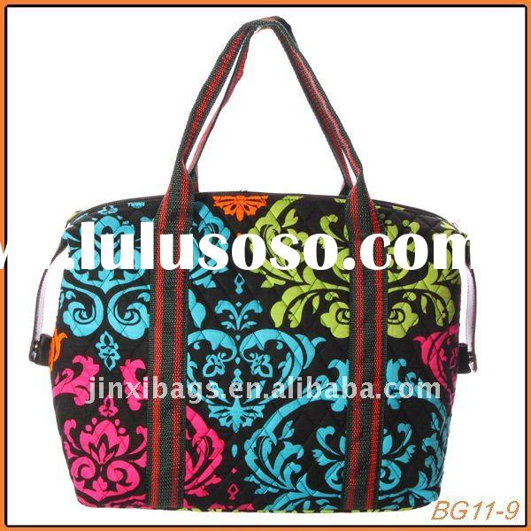 Yiwu fashion lady quilted cotton fabric bags