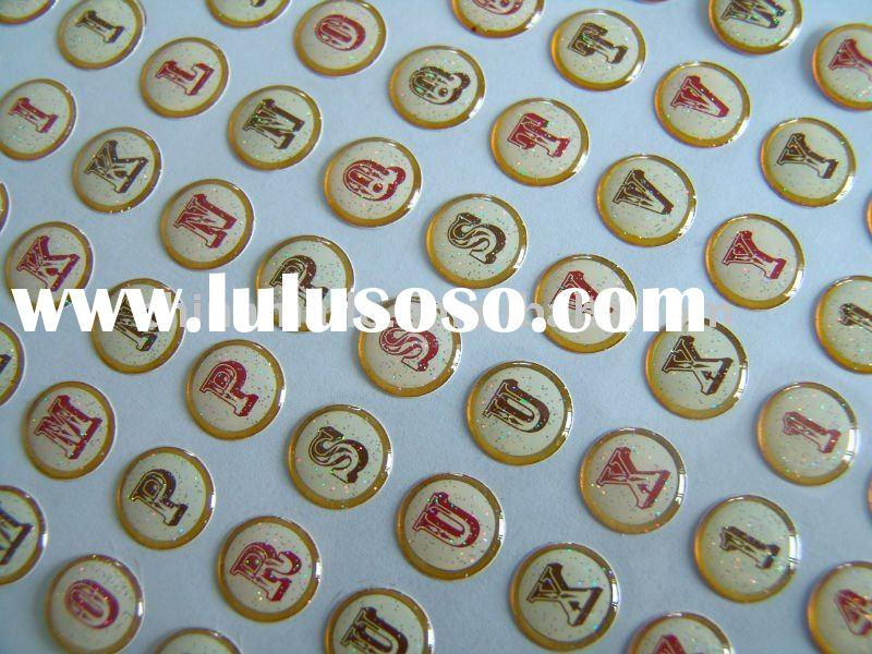 adhesive epoxy sticker with glitter for phone decoration