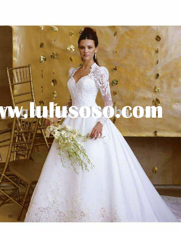 ancient heart shape lace wedding dress with perfect bolero jacket HS655