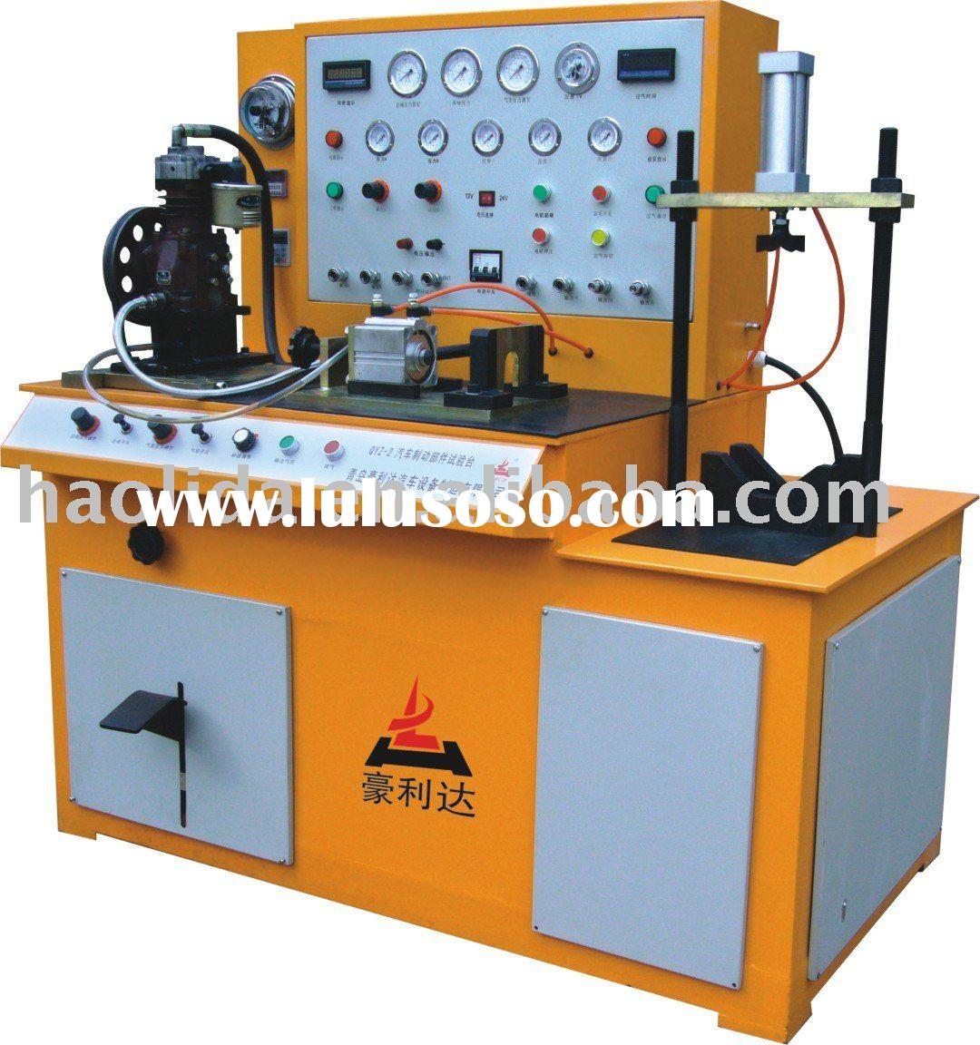 automobile air brake system test bench, Test air compressor, Master valve, Air chamber, Quick releas