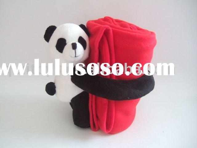 baby fleece blanket with plush panda