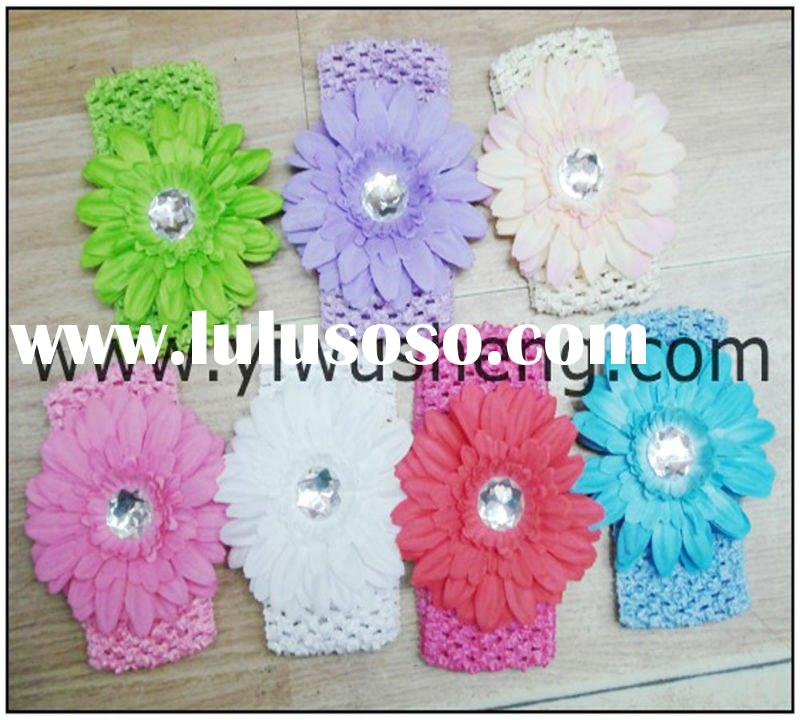 baby headband crochet headband holiday headband flower headbands
