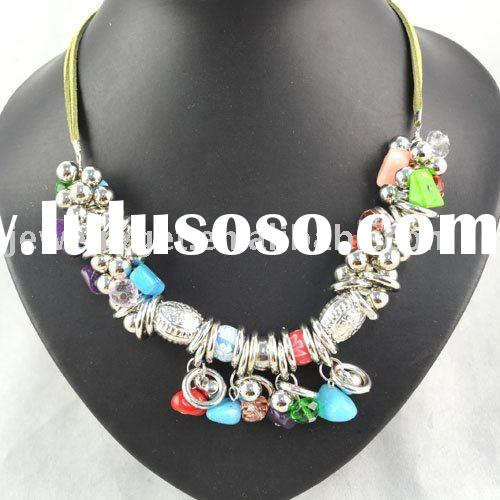 beaded chunky necklaces ,fashion jewelry ,paypal ,free shipping ,NL-1020