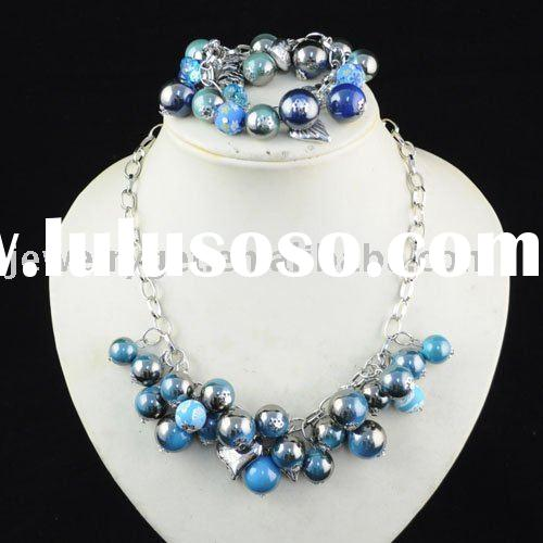 beaded jewelry set ,acrylic beaded ,paypal ,free shipping ,NL-959c