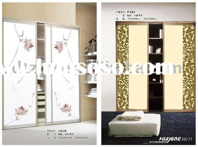 best for wardrobe glass---acid etched painted glass
