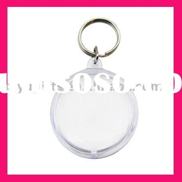 blank acrylic key chains (round shape)