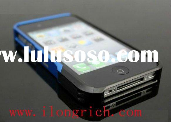 brand new for iPhone 4 Element Vapor Pro aluminum bumper case-Black/Blue