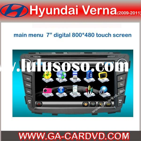 car dvd player for Hyundai Accent 2010 with bluetooth and GPS