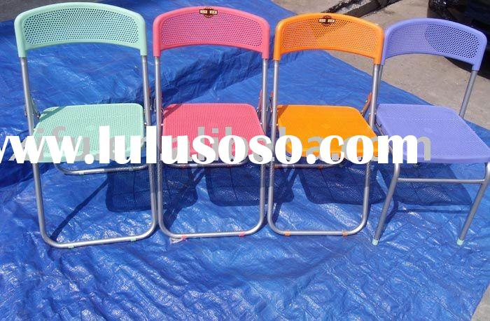 cheap plastic mesh folding up chairs
