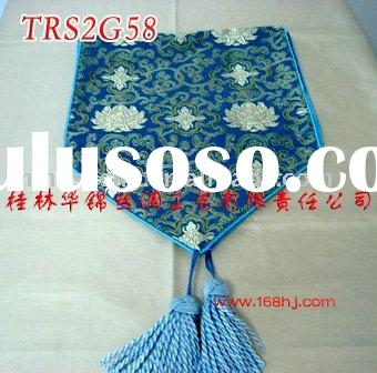 chinese style embroidery table runner.real silk table runner