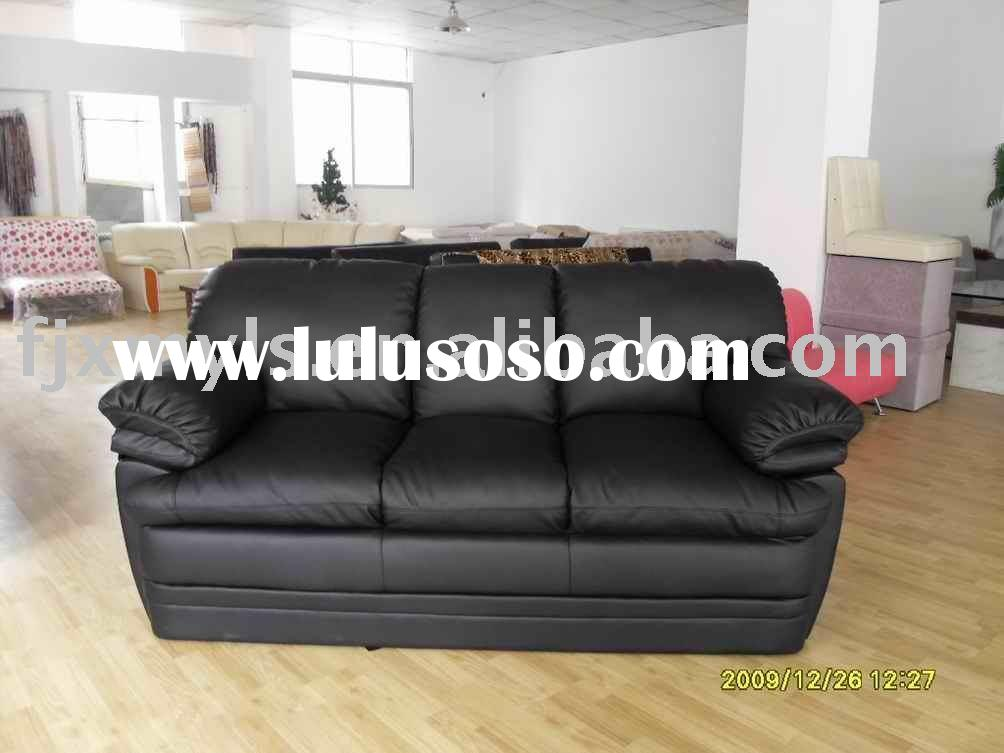 classic black leather sofa