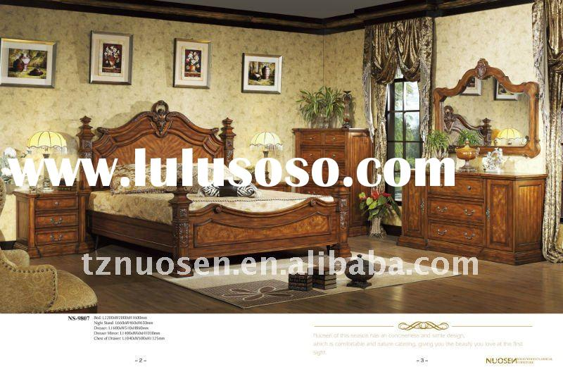 classical baroque bedroom set furniture NS-9807