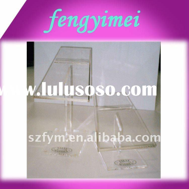 clear acrylic shoe risers/transparent plexiglass shoe display rack/acrylic display rack FYM-738