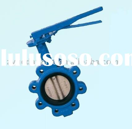 ductile iron lug wafer butterfly valve