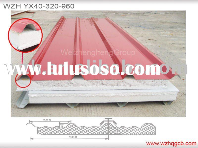 eps sandwich panel eps-xx for wall & roof,exported to Europe, South Africa, Maxico,USA and other