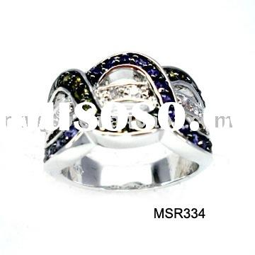 fashion jewelry with cz ring(elegant costume jewellery with low qty & most competitive price)