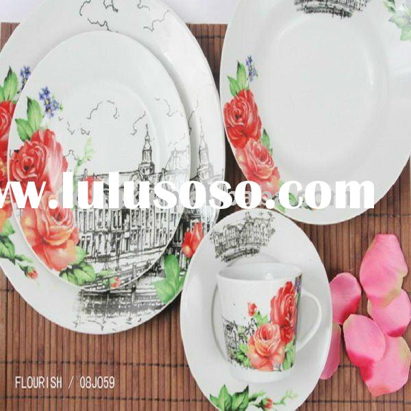 fine dinnerware,colourful dinnerware set,porcelain tableware,ceramic dinner set