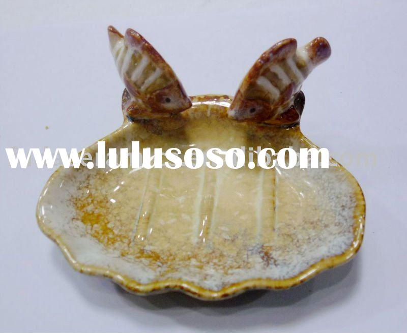 fish ceramic soap dish