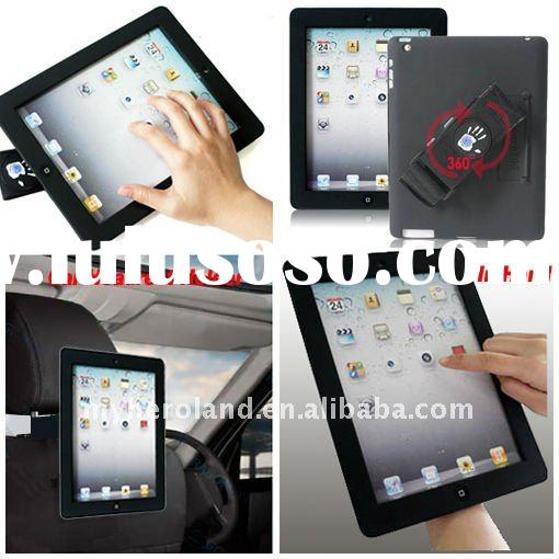 for iPad 2 360 Degree Rotatable Sleeve Case With Stand function& Car Headrest Holder function, (