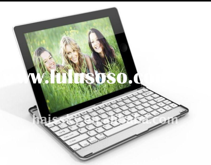 for ipad 2 aluminium case with bluetooth keyboard / for ipad 2 aluminium bluetooth keyboard case / f