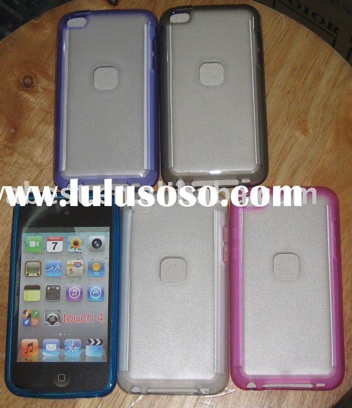 for ipod touch 4 pc + tpu case/mobile phone