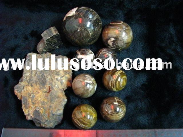 fossil wood stone ball semi precious gem crafts petrified wood