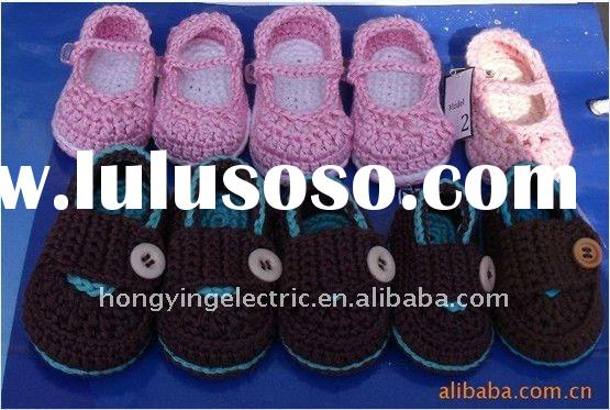 girls and boys crochet baby shoes