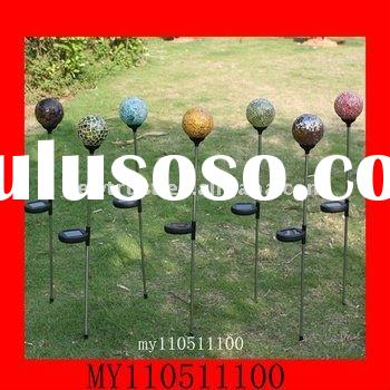 glass solar ball decorative garden light