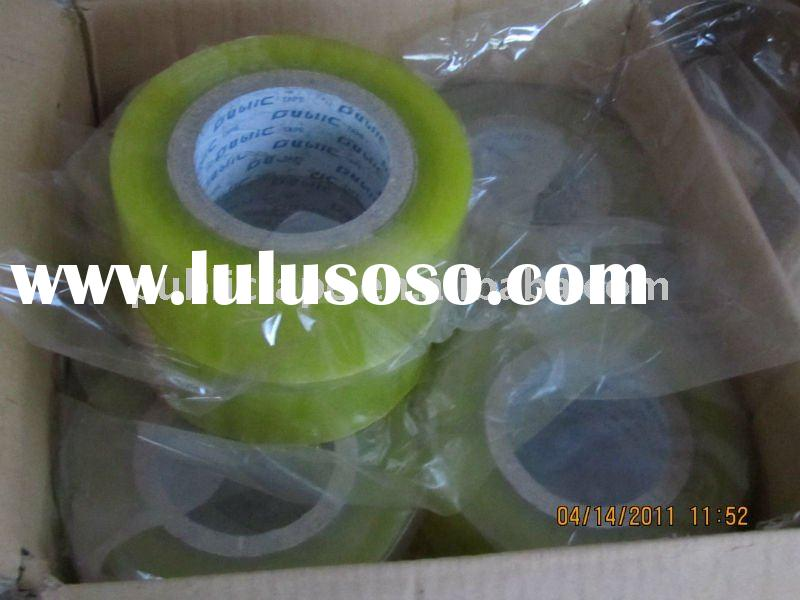 good performance BOPP packing and sealing clear adhesive tape