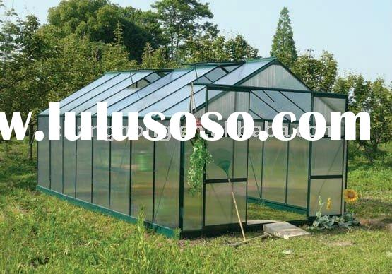 greenhouse--construction with gutters